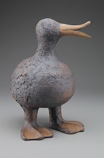 Round Duck with a long beak